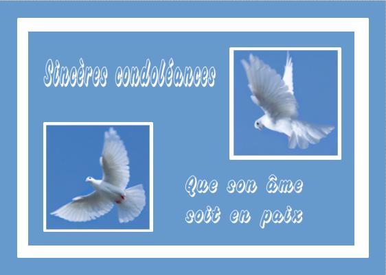 """Résultat de recherche d'images pour """"condoléances colombe"""""""