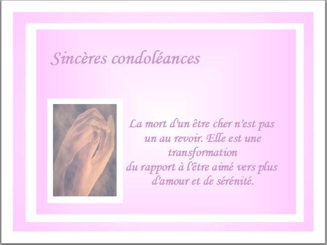 texte carte de condoléances Carte condoléances mains jointes 3 | Carte condoléances