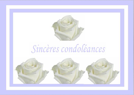 Bien-aimé Carte condoléances EE34