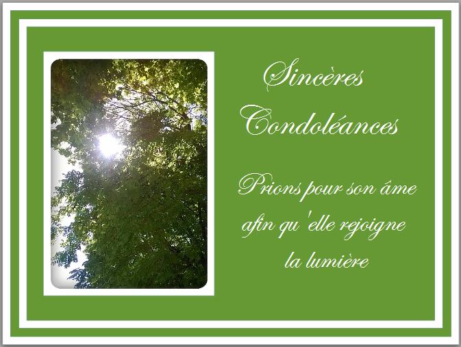 modele carte de condoleances gratuit