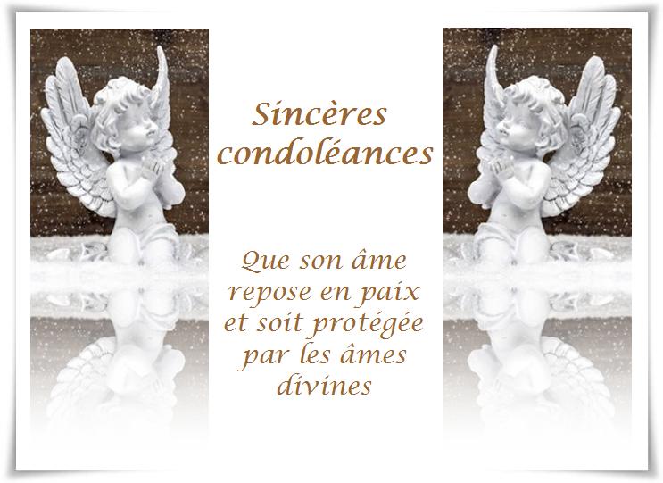 Fabuleux Carte condoléances KI25